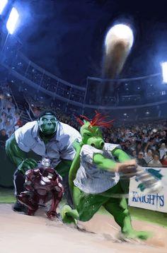 Marvel Baseball series by Gerald Parel *