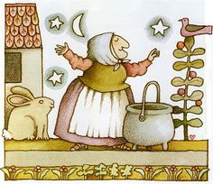 Strega Nona...by Tomie dePaola. May be my favorite children's book author!