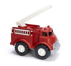 """Kinder-Feuerwehrauto von """"Recycling-Vielfalt"""" - Robust und stabil aus recycelten Milchtüten hergestellt!"""