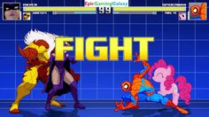 Spider-Man And Pinkie Pie VS Raven And Sabretooth In A MUGEN Match / Battle / Fight This video showcases Gameplay of Spider-Man The Superhero And Pinkie Pie From The My Little Pony Friendship Is Magic Series VS Sabretooth And Raven The Member Of The Teen Titans In A MUGEN Match / Battle / Fight