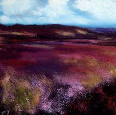 Irish Landscape 'Bog Heather' Irish Landscape painting Irish Art Gotta love heather colour