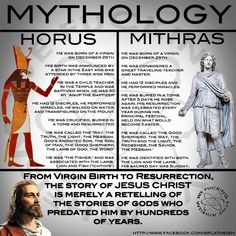 Mythology Horus, Mithras and now Jesus the God of Christianity Traveling Teacher, Atheist Quotes, Truth Quotes, Athiest, Empire Romain, Jesus Stories, World Religions, Mythology, Christianity