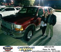 #HappyAnniversary to Phillip Pape on your 2001 #Ford #Excursion from Eric Stovall at Huffines Chevrolet Plano!