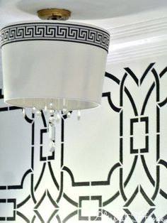 DIY Chandelier with Shade for $20!! via Bliss at Home