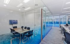 Different coloured flooring in meeting room to corridors Law Office Design, Workplace Design, Office Interior Design, Corporate Design, Corporate Interiors, Office Interiors, Glass Film Design, Office Ceiling, Office Floor