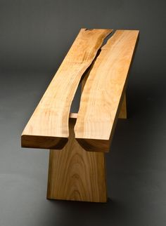 Cherry Rift Bench | Northwest Woodworkers' Gallery
