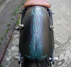 125 thumper chopper fender pinstripe | afs custom bikes taiwan