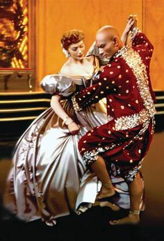 """Anna (Deborah Kerr) and King Mongkut (Yul Brynner) in """"The King and I"""". When I was a little girl I fell in love with Yul Brynner after seeing this, and I never fell out of love with him. Yul Brynner, See Movie, Movie Tv, Epic Movie, Old Movies, Great Movies, Movies Showing, Movies And Tv Shows, Hollywood"""