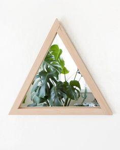 miroir diy mural triangle