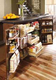A number of different great organizational built in cabinets.