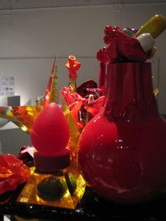 Oiva Toikka: Glass art in exibition 2010. Finnish Design Museum, Helsinki. Photo: Raija Forsström