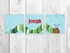 Very Hungry Caterpillar Nursery Name Series, Nursery Art Prints, Customized Nursery Name Art Prints on Etsy, $53.00