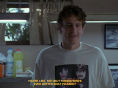 Freaks and Geeks - Jason Segel - Nick quote Freaks And Geeks, Movie Lines, Film Quotes, Slytherin, Friendship Quotes, Movies And Tv Shows, Movie Tv, Geek Stuff, Fun Stuff