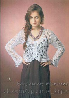 Delicadezas en crochet Gabriela: Chaqueta Calada