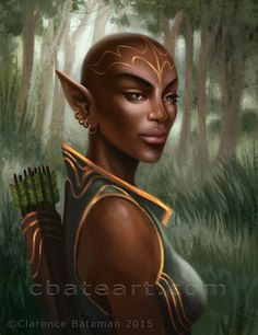 """Black Elf"", by Clarence Bateman"