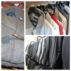 A selection of fall clothing at Winston's Men's Wear.