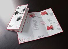 Leaflet Layout, Leaflet Design, Flyer Layout, Broucher Design, Paper Design, Layout Design, Business Leaflets, School Brochure, Graphic Design Brochure