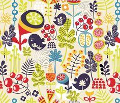 Cute nature. fabric by panova on Spoonflower - custom fabric
