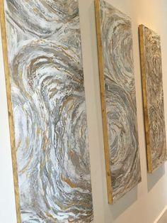 Acrylic Abstract Transitional Large Canvas by BethanyJoyMadrid