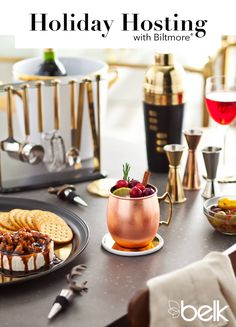 We propose a toast to happy holiday hosting, and what better way to impress guests than with the gold standard: Biltmore® barware? Three cheers for festive drinks this season, with bar tools and wine accessories like a cocktail shaker, shot glasses, ice bucket & more that shine with gold and metallic accents. The collection adds luxury to any home bar or holiday party from Christmas through the new year. Shop Biltmore barware now in-store or at belk.com.