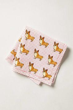 polka dot printed napkins