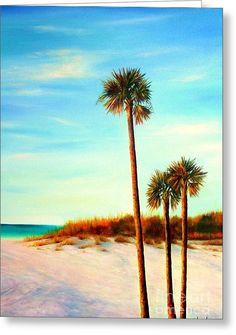 Clearwater Beach Greeting Card by Gabriela Valencia
