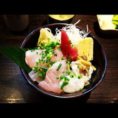 Seafood donburi :) In Japan, it's all about presentation.  Photo by yuyou62