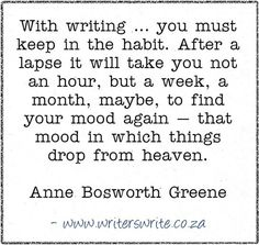 Quotable - Anne Bosworth Green - Writers Write Creative Blog