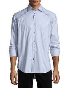 7e7a6830c28f Bogosse Jacquard Long-Sleeve Sport Shirt
