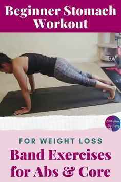 The best beginner band exercises for your core for women. Use these resistance band exercises for strengthen and tone your stomach and abs. This workout is perfect for weight loss and getting rid of that muffin top! Create that flat belly at home with a mini loop resistance band. #resistancebandworkouts #abworkoutsforbeginners Gym Workout For Beginners, Abs Workout For Women, Workout Videos, Outdoor Workouts, Fun Workouts, At Home Workouts, Fun Exercises, Ab Challenge, Weight Loss Challenge