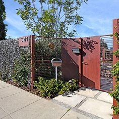 fencing, Turquoise LA Interior Design - Venice - contemporary - entry - los angeles - Jeri Koegel Photography