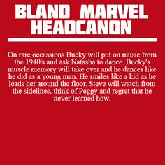 I hate this and the worst part is, I think this is probably what the good old days were like--Bucky being a hit with the ladies and dancing and having a grand time, while Steve watches longingly on the sidelines. But he'll never mention it to Bucky because he doesn't want his brother to know how jealous it makes him, it's a silent division.
