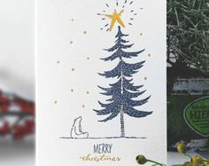 LETTERPRESS Weihnachtskarten RUDOLF von kikisoso auf Etsy