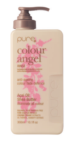 hairjamm, pure, colour angel rinse, hair, haircare, shea butter, açai, pearl, colour fade defence, sulphate free, paraben free, australian made, JuuceAustralia