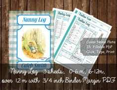Baby Log Nanny Log Download Infant Record by WeddingsBabiesHome