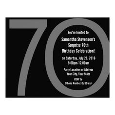 Big 7 0 Birthday Party Invitations
