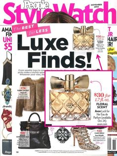 #AvonLuck for Her was featured in #People #StyleWatch as a top luxe find. Order at www.yourbeautylady.com #AVON