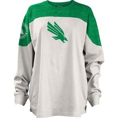Three Squared Juniors' University of North Texas Cannondale Long Sleeve T-shirt (Green, Size Medium) - NCAA Licensed Product, NCAA Women's at Acade...