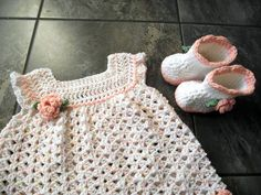 Ravelry: theburdenissweet's Peach Dots Baby Girl Sleeper Set - Dress