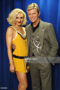 Gwen Stefani and David Bowie during 2005 Fashion Rocks - Audience and Backstage at Radio City Music Hall in New York City, New York, United States.