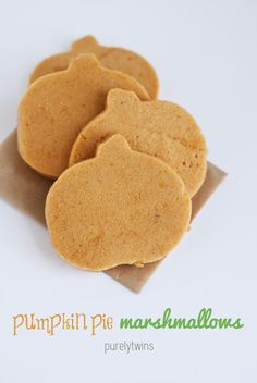 how to make pumpkin pie marshmallows with stevia! Low calorie pumpkin pie snack!