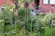 To Make You Smile artists David Britton & Mary Elizabeth McAndrew donate some of their birdhouse's to Therapy Gardens at Burn Centers & Children's Hospital