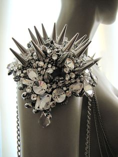 Gems and Spikes armor.  How hard/expensive would this be to make?!?  It would be awesome to wear at the renaissance festival!