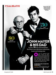 Love this article about John Mayer and his dad!