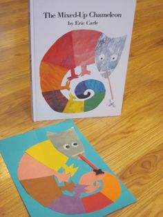 "pinterest preschool eric carle crafts | Eric Carle Inspired ""Mixed Up Chameleon"" Kids Craft Project #77"