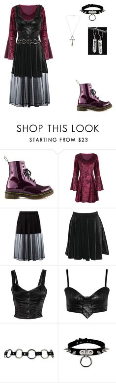 """""""To Bring You My Love- PJ Harvey"""" by the-one-you-serve ❤ liked on Polyvore featuring Dr. Martens, Givenchy, Boohoo, McQ by Alexander McQueen, Style Stalker and Killstar"""