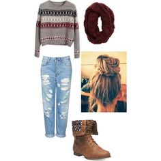 A fashion look from October 2014 featuring Chicnova Fashion sweaters, Topshop jeans and Wet Seal ankle booties. Browse and shop related looks.