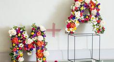 Buchstaben aus Blumen basteln