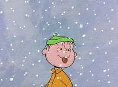 Linus in the Snow love cute animated charlie brown gif peanuts linus sally