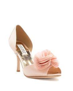 Thora Silk Ruffle Evening Pump